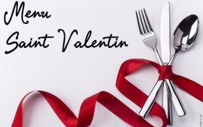 Menu de la Saint-Valentin 2018